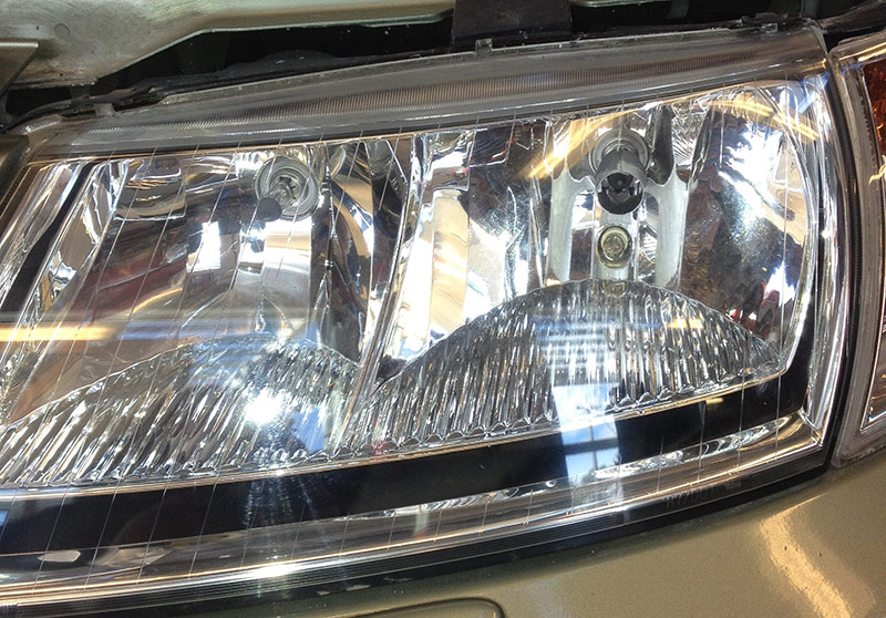 clear, new headlight lens