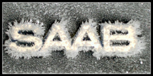 saab 9-5 frozen emergency brake caution